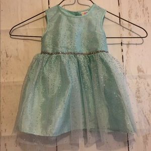 Healthtex Baby Girl Sparkly, Puffy Teal Dress 12M